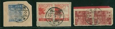 (HKPNC) HONG KONG 1940's JAPAN OCCUPATION POSTALLY USED PIECE LOT 6