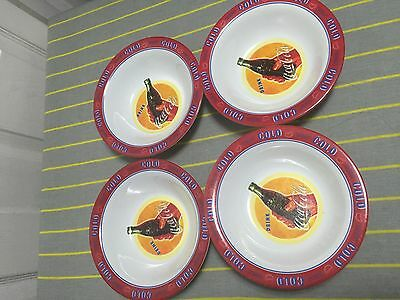 Lot of 4 Coca Cola  Bowl Collectable Everyday Gibson Plastic USED