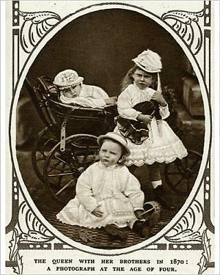 """10""""x8"""" (25x20cm) Print of Princess May of Teck with brothers"""