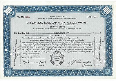 Chicago, Rock Island And Pacific Railroad Company.....1948 Temporary Certificate