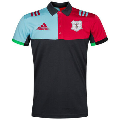 Harlequins Rugby Union Adidas Men's Polo Shirt Performance Shirt S M L XL XXL