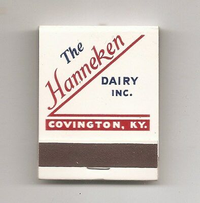 The Hanneken Dairy Inc, Covington, Ky Match Book Nos
