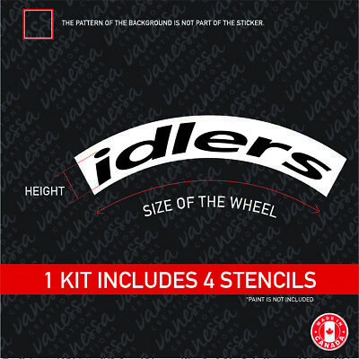 TIREBOMB TIRE STENCIL IDLERS STANCE RETRO STYLE *for paint*