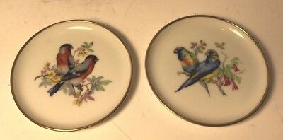 """Collectible Set of 2 Kaiser W. Germany 4"""" Decorative Plate with Birds"""