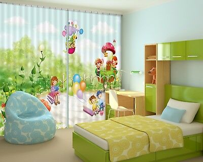 3D Watercolor Draw 53  Blockout Photo Curtain Curtains Drapes Fabric Window CA