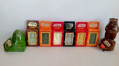 Vintage Lot Of Eight Star Wars Bath Soaps/Shampoo/Bubble Bath Mint in Packages