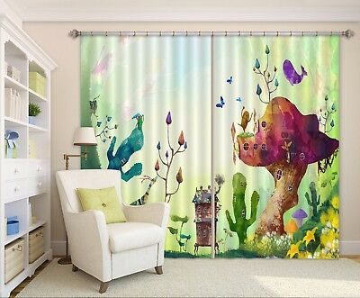3D Abstract Forest 63 Blockout Photo Curtain Curtains Drapes Fabric Window CA