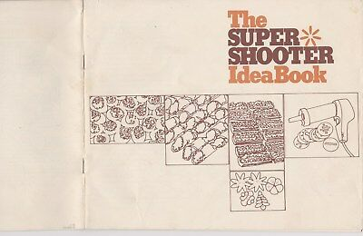 Wear Ever SUPER SHOOTER Cookie Press Replacement IDEA BOOK Model 70001
