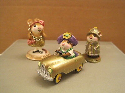 Wee Forest Folk (3) Gold Pieces-Expo Pedal Pusher and April Showers Plus Zelda