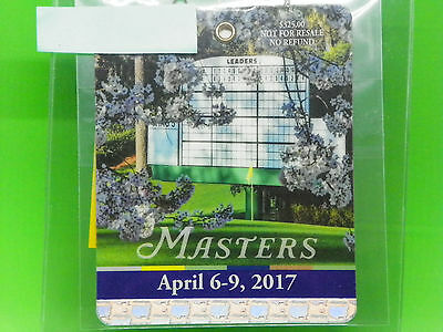 2017 Masters Badge,Spectator Guide,Pairing Sheets,Distance Sheets holes1-18