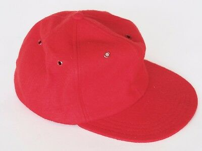 Vintage Red Wool Fitted Baseball Cap Hat 7 3/8