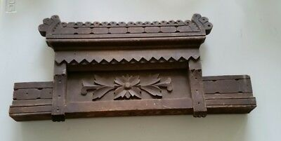 Antique heavy wooden victorian carving Eastlake Style hanging conversation piece