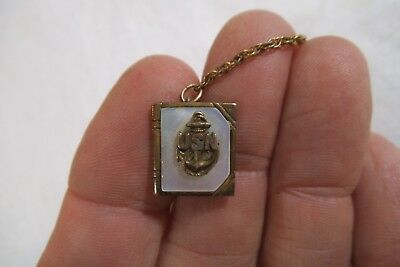 Vintage WW2 US Navy Sterling Silver Mother of Pearl Sweetheart Pin - Gold Filled