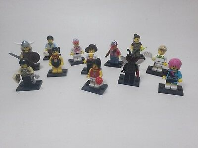 LEGO® collectible minifig lot of 12 mixed series 2 3 4 5 6 7 8 cop viking L@@K
