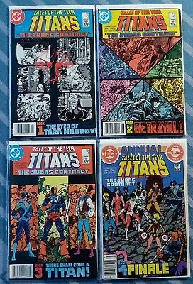 DC (1984) Tales of Teen Titans #44 * Judas Contract Book 1-4 * 1st Nightwing *