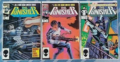 Marvel (1985) Punisher (Limited Series) #1 &5 (Unlimited Series) #1 * High Grade
