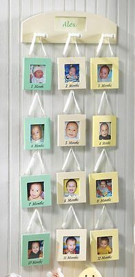 Baby's First Year Monthly Photo Hanging Frames