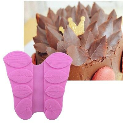 Multi Texture Leaves Soap Chocolate Cookies Mould Silicone Fondant Cake Molds