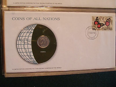 Coins of All Nations Zambia 5 Ngwee 1972 UNC