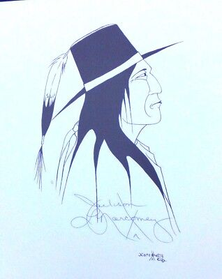 Signed Print Medicine Man Jackson Narcomey Creek Native American