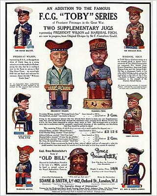 """10""""x8"""" (25x20cm) Print of Wartime Toby jugs, WW1 from Prints Online"""