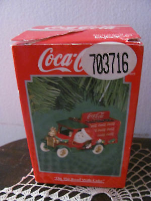 Vintage Enesco 1994 Coca Cola On The Road With Coke Ornament