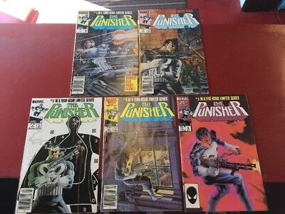 Punisher #1 - 5 1984 Limited Series Lot Of 5 Marvel Comics Vf/nm