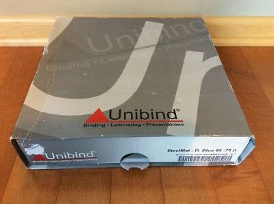 New In Box 50 Piece Unibind Steelmat - D.blue 55-75 P. - Made In Belgium