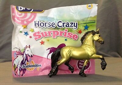 Breyer Stablemate Horse Crazy Surprise Mystery Gold/Green Friesian
