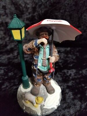 """Emmett Kelly 1997 Coca Cola Limited Edition """"time For A Coke"""" Miniature Figurine"""