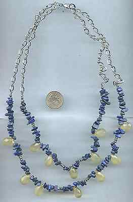 Vintage Lot of 2 Necklaces Pearl Some Glass Bead Lapis Blue Bead 1 Lane Bryant