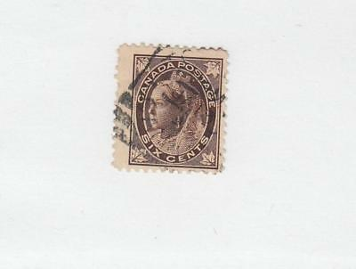CANADA  (MK1037)  #71  FVF LIGHT USED  6cts QUEEN VIC MAPLE LEAF  CAT VALUE $40
