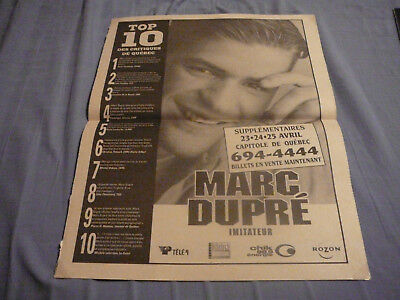 MARC DUPRÉ PIN UP POSTER PHOTO AFFICHE 11.5 x 15 CLIPPING