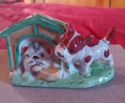 Vintage Ceramic Figurine made in Occupied Japan Dog and Doghouse
