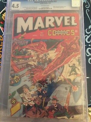 Marvel Mystery Comics #63 CGC 4.5 VG+ Timely 1945 -