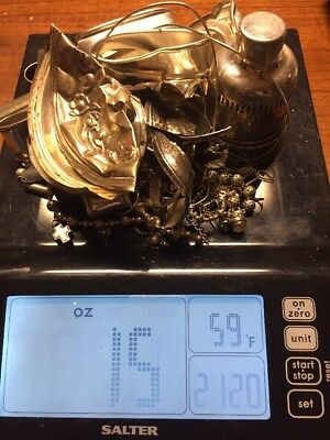 LARGE 15oz LOT OF STERLING SILVER FOR SCRAP 422 Grams