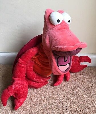 "Disney Store Exclusive Sebastian Lobster Plush. 13"" Little Mermaid Soft Toy Red"