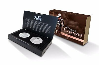 HALF-PRICE Rare horse racing Black Caviar 2 Coin Silver Box Set Cost $314.95!!!!