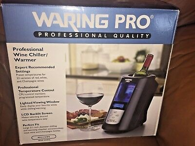 WARING PRO Profession Electric Wine Chiller/Warmer TABLETOP ~ Used Only 1 Time