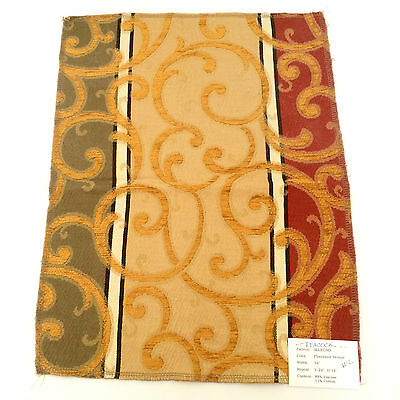 Fabric Piece Allegro Pattern  New Remnant 13 1/4 X 17 1/2