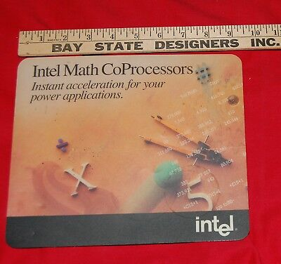 VINTAGE Computer Advertising MOUSE PAD Intel Math CoProcessors