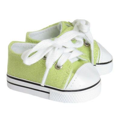 Lime Green Canvas Sneakers made for Bitty Baby Doll Clothes Accessories