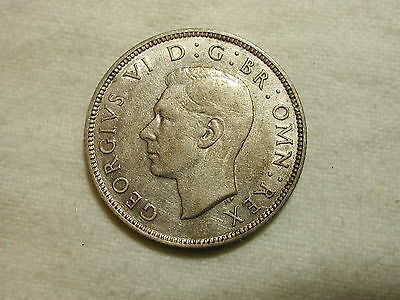 Great Britain 1941 World Coin Two Shilling KM #855 ASW .1818 XF