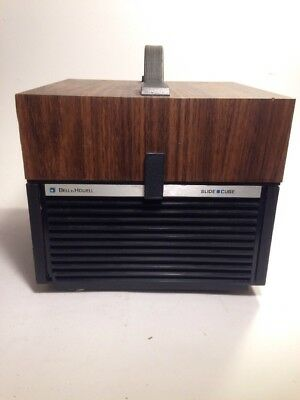 Vintage Bell & Howell Slide Cube Projector w/ Remote Model 981Q Tested