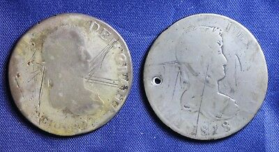 (2)  Mexico  8 Reales 1818 and 1822
