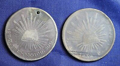 (2)  Mexico  8 Reales 1839 and 1842