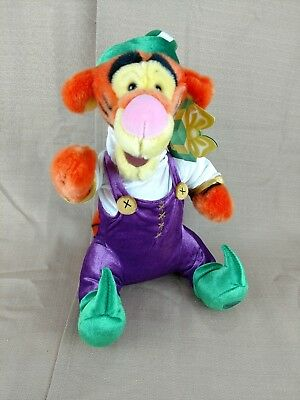 "Disney store Tigger Elf Christmas Holiday Plush Winnie the Pooh 13"" New"