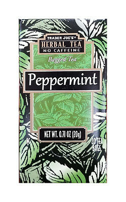 Caffeine Free TRADER JOE'S Peppermint Herbal Tea ( 20bags ) Pick 1 or 2 Boxes