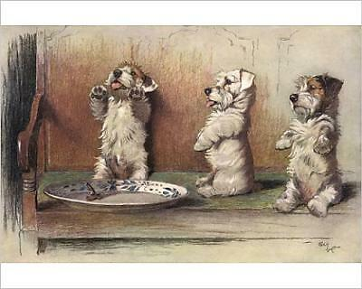 """10""""x8"""" (25x20cm) Print For What We Are About to Receive by Cecil Aldin"""