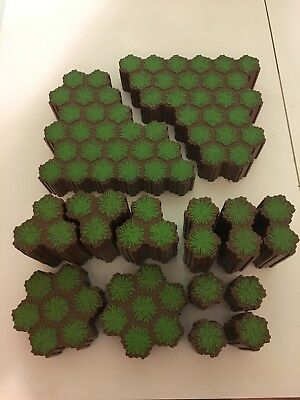 Heroscape Large lot of Forest/ green hex 125 pieces